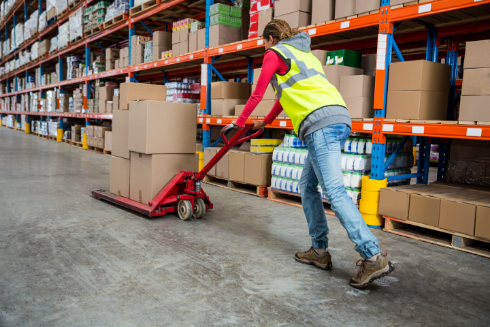 Person working in a warehouse