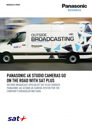 Panasonic 4K studio cameras go on the road with SAT Plus